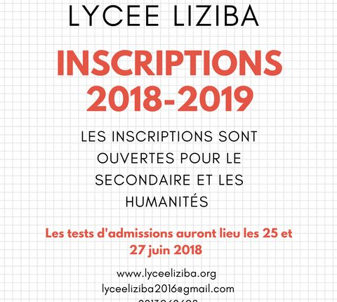 Inscriptions Liziba 2018-2019